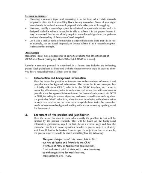 format research proposal pdf 56 proposal exles pdf