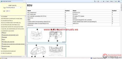 old car repair manuals 2012 mitsubishi i miev head up display service manual pdf 2012 mitsubishi i miev repair manual mitsubishi i miev 2012 eur service