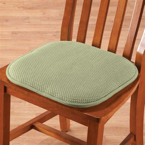 Foam Chair Pads by Memory Foam Chair Pads Set Of 2 Foam Cushions Seat