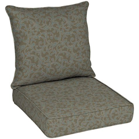 outdoor setting chair cushions hton bay waterfall scroll outdoor seat
