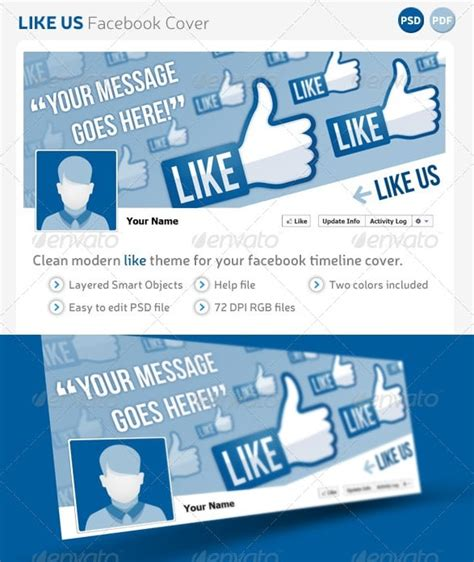like us on template premium and free timeline cover templates