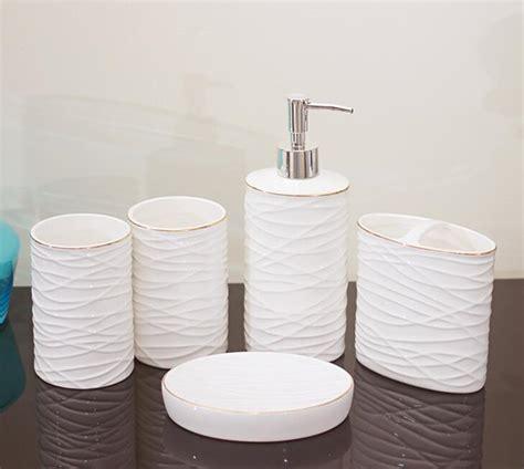 Ceramic Bathroom Accessories Sets by Ceramic Bathroom Accessories 5 Pieces Bathroom