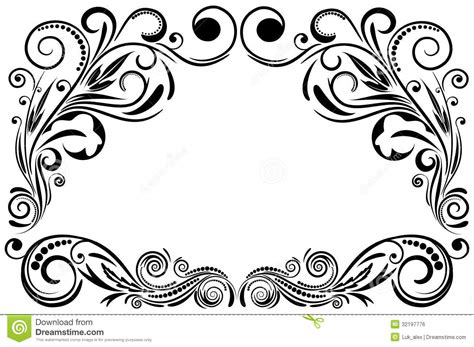 design graphic frame frame ornament stock vector image of spiral style