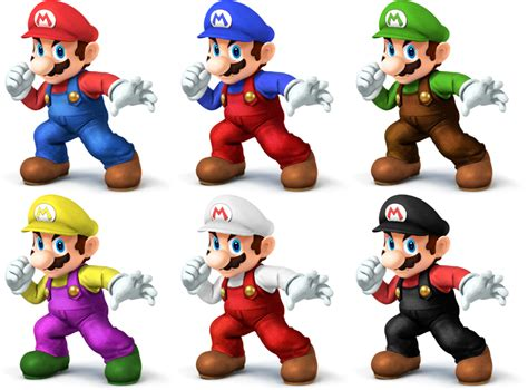 mario colors mario ssb4 recolors by shadowgarion on deviantart