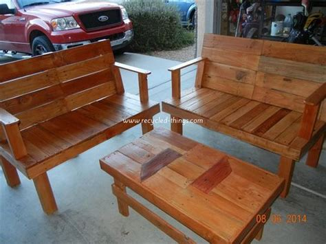 Wood Pallet Patio Furniture Plans Recycled Things Patio Pallet Furniture