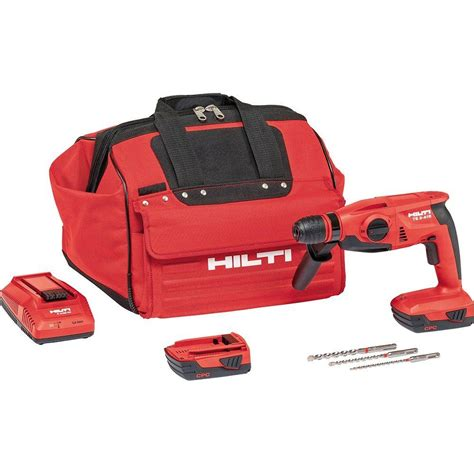 Bor Hilti Te 2 hilti te 2 a 18 volt lithium ion sds plus cordless compact rotary hammer drill 3490195 the