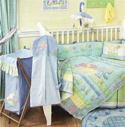 elephant crib bedding sets baby elephant 4 crib bedding set by california