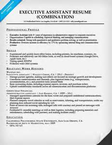 executive assistant resume exle resume companion