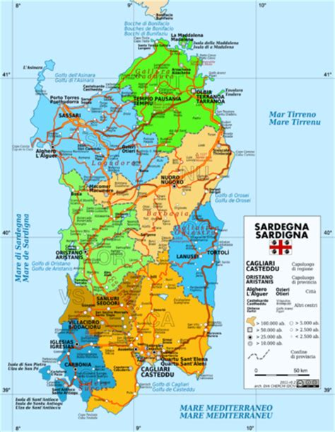 printable road map of sardinia sardiniens provinser wikipedia