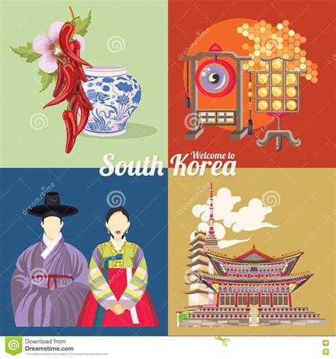 imagenes de simbolos coreanos cartel del viaje de la corea del sur fijado con s 237 mbolos