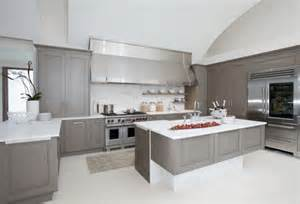 Light Grey Kitchen Cabinets by Best Color For Kitchen Cabinets With White Appliances