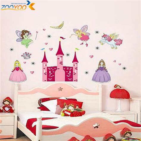 kid room decals princess castle wall stickers for