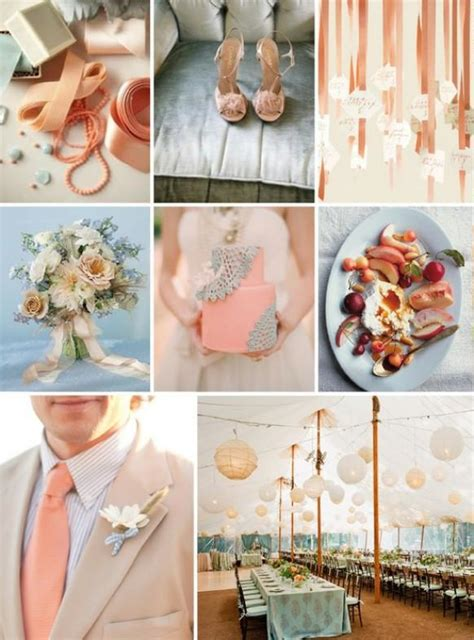peach wedding peach wedding color palettes 798581