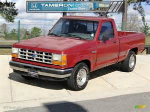 1992 Ford Ranger 1992 Medium Cabernet Metallic Ford Ranger S Regular