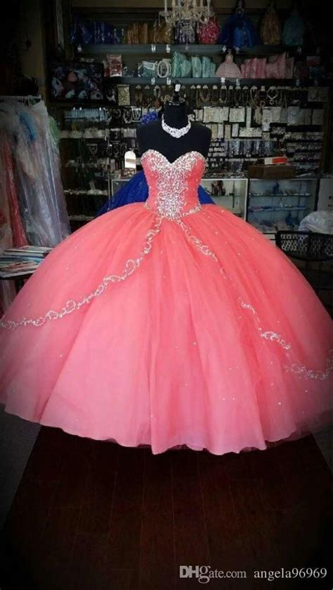 New Quinceanera Themes | coral quinceanera dresses 2016 new unique cheap