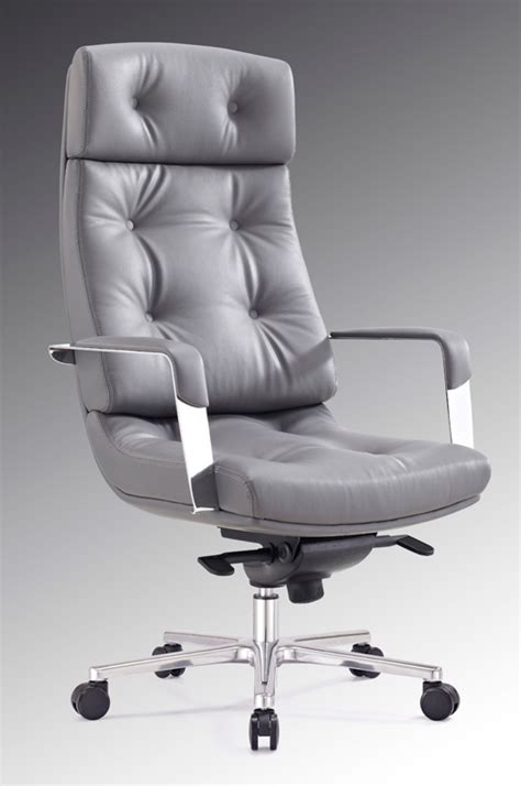 Office Chairs Gray Modrest Forbes Modern Grey High Back Office Chair Office