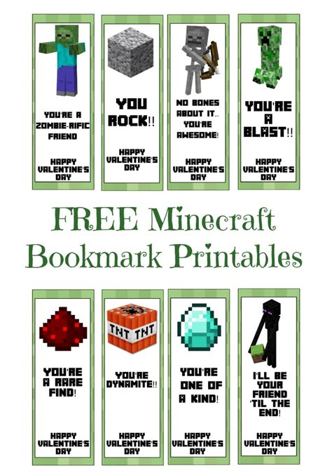 free printable minecraft valentine s day cards free