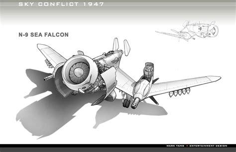 imagenes retro futuristas sky conflict 1947 aeronaves conceptuales retro