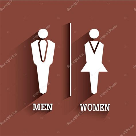 what does wc stand for bathroom wc sign toilet symbol male and female with long shadow stock vector