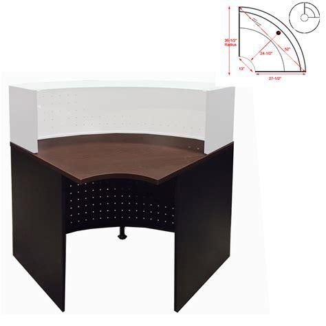 glass top corner desk u shaped 2 person glass top reception desk