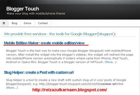 membuat blog versi android 1 kunjungi situs http bloggertouch sopili net
