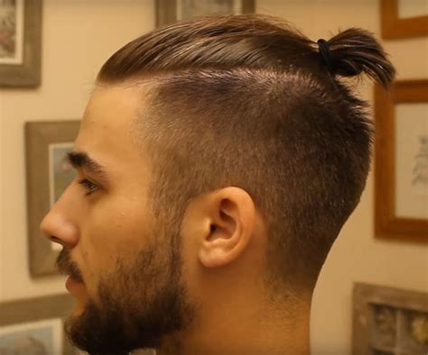 how to man top knot man bun top knot tutorial mens hairstyles