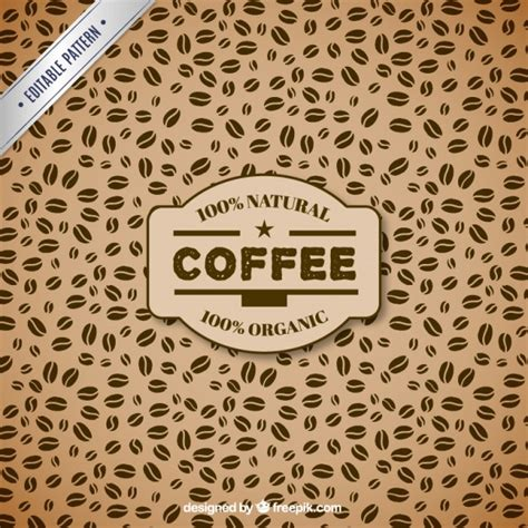 pattern coffee vector coffee beans pattern vector free download