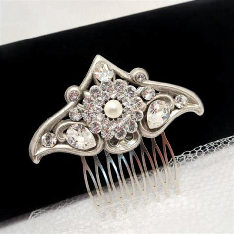Vintage Bridal Hair Accessories South Africa by Vintage Bridal Hair Comb Swarovski Wedding Hair