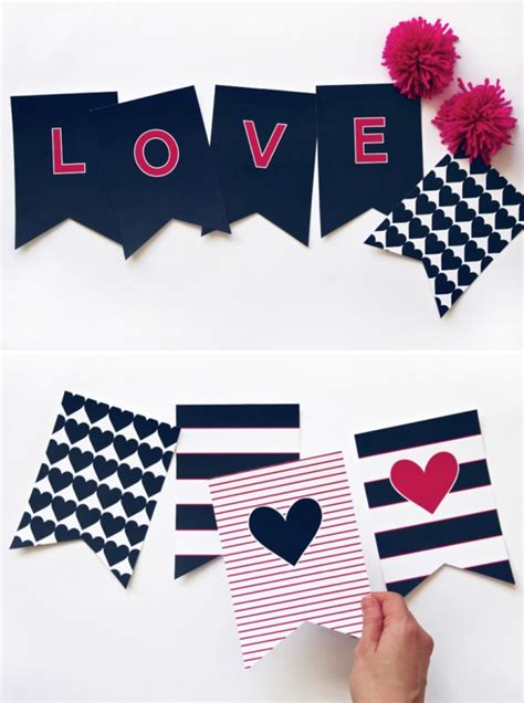 printable i love you banner preppy navy valentines love banner paging supermom