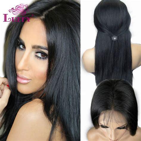 Glueless Full Lace Wigs 10A Grade Peruvian Virgin Hair