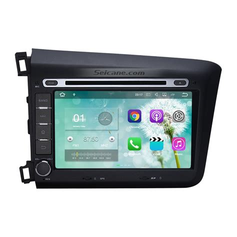 android dvd player android 7 1 dvd player radio gps navigation bluetooth stereo for 2012 honda civic with touch