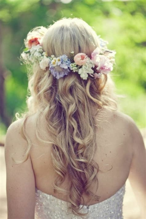Wedding Hair Wreath Of Flowers by With Flower Wreath Bridal Hair
