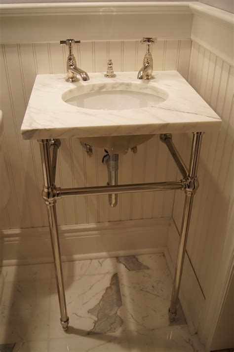 console bathroom sinks with chrome legs undermount sink with a marble top on console legs