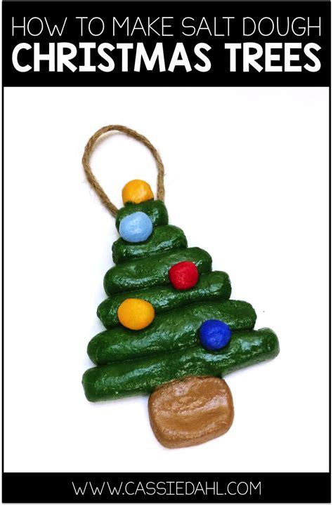 making salt dough christmas tree ornaments cassie dahl
