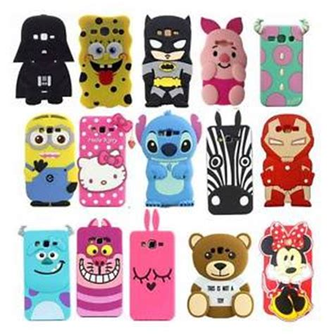 4d Stitch Xiaomi Redmi 2 Karakter Soft Silikon 3d new 3d animals soft silicone cover back