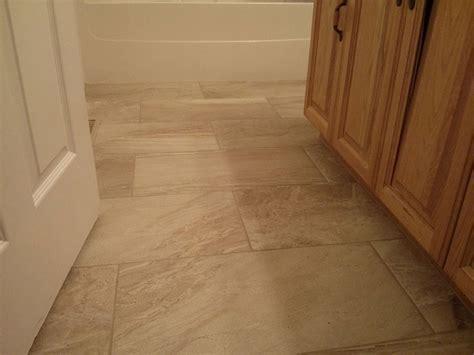 12x24 Porcelain Tile Bathroom Brick Pattern