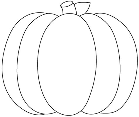 pumpkin shape coloring pages pumpkin outline printable clipartion com
