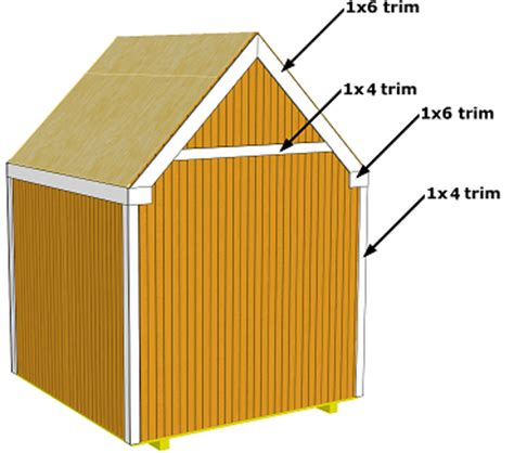 Shed Roof Trim by Gable Storage Shed Trim Shingles And Paint