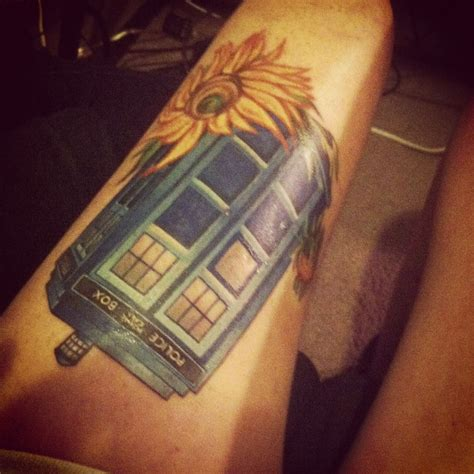 blue rose tattoo huntsville al my vincent and the doctor tardis done by greg