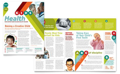 childcare newsletter templates pediatrician child care newsletter template design