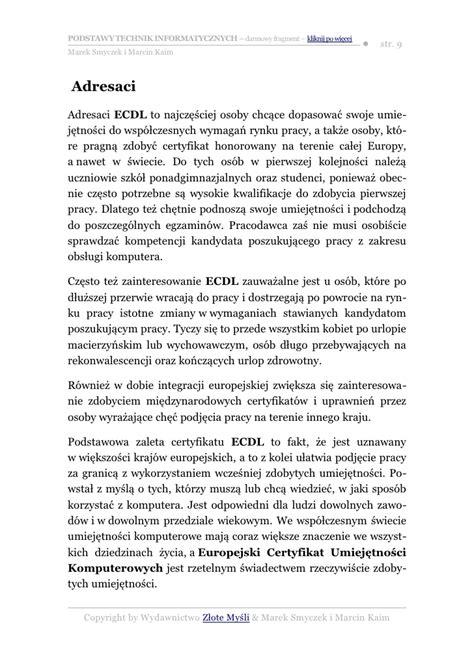ebook jaki format ecdl podstawy technik informatycznych pobierz darmowy