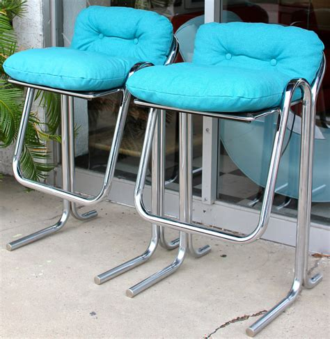 turquoise bar stool covers unique padded turquoise bar stool with chrome frame legs