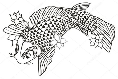 imagenes de zen koi zentangle stylis 233 e koi poissons vecteur illustration