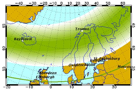 northern lights current forecast forecast geophysical institute
