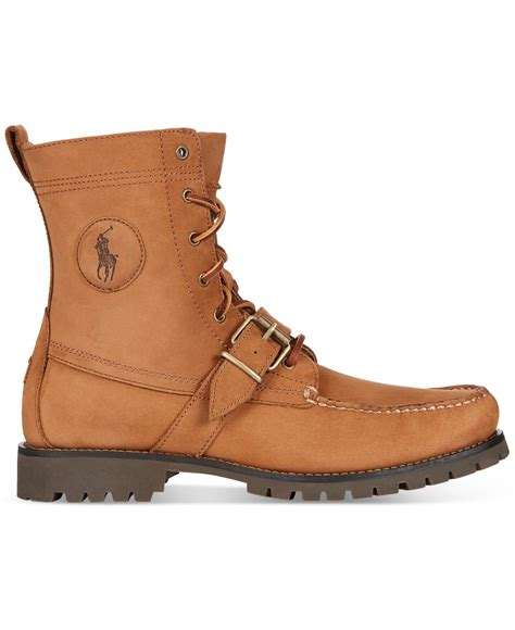 brown polo boots polo ralph ranger boots in brown for lyst