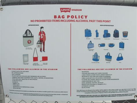 united bag check policy bag check policy catching the san francisco 49ers live