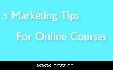 Marketing Classes 5 by 5 Marketing Tips For Courses