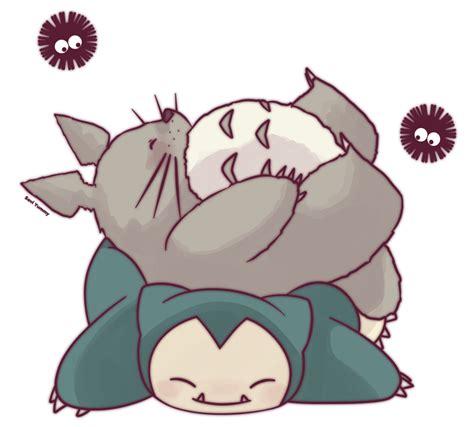 imagenes kawaii de totoro totoro and snorlax by seviyummy on deviantart