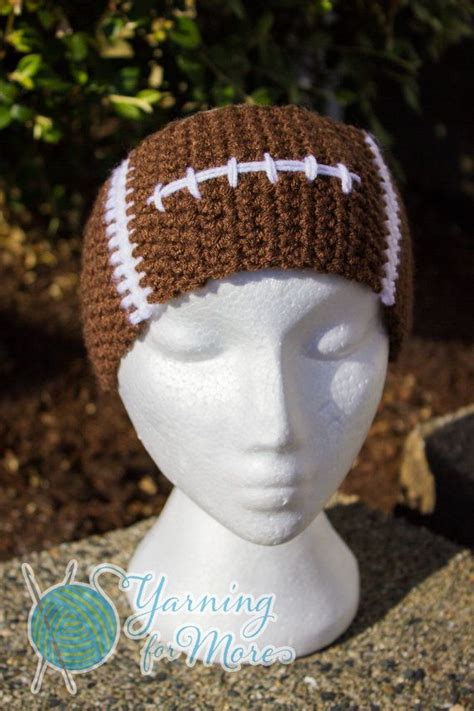 football headbands crochet football ear warmer headband