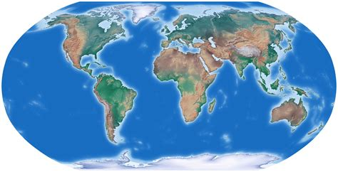 image of world map for world large detailed relief map large detailed relief map